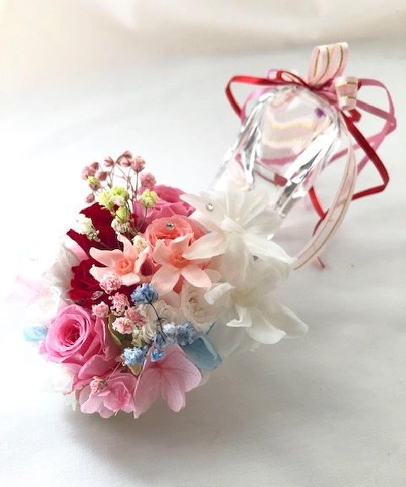 【プリザーブドフラワー/本当のガラスの靴シリーズ】シンデレラの魔法の時間