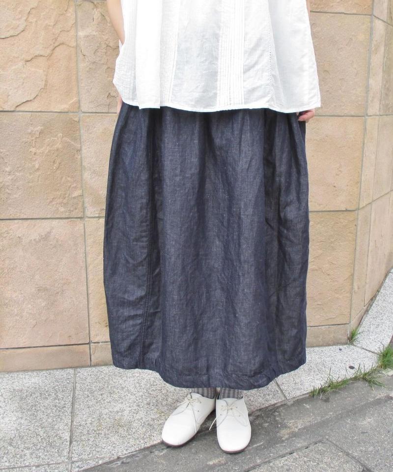 【2019夏】HEAVENLY リネンコットンデニムコクーンスカート