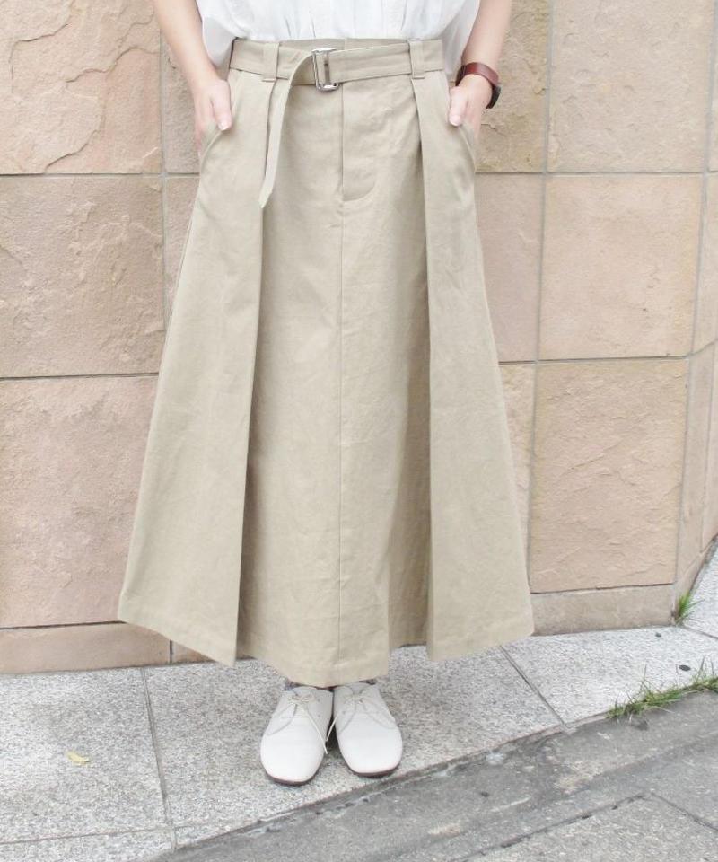 【2019秋】doux bleu ポプリンタックスカート