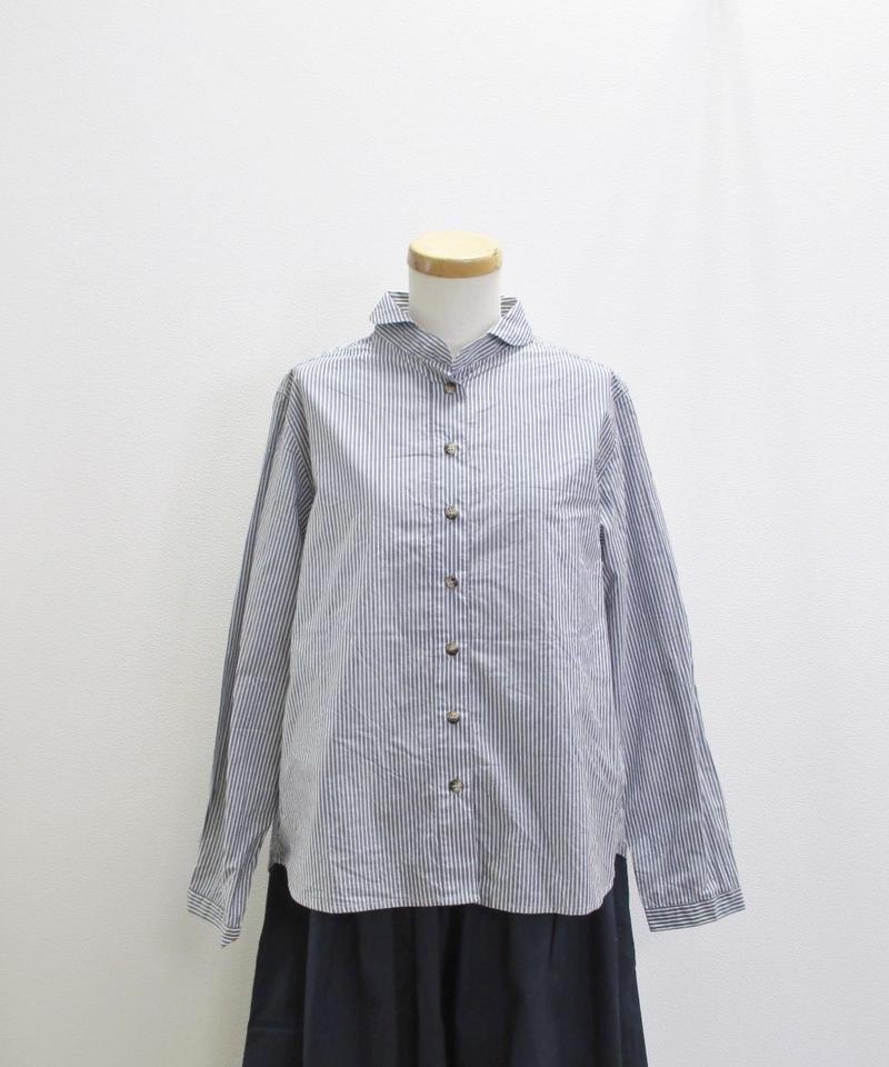 【2019SS新作】YARRA ラウンドカラーシャツ ストライプ
