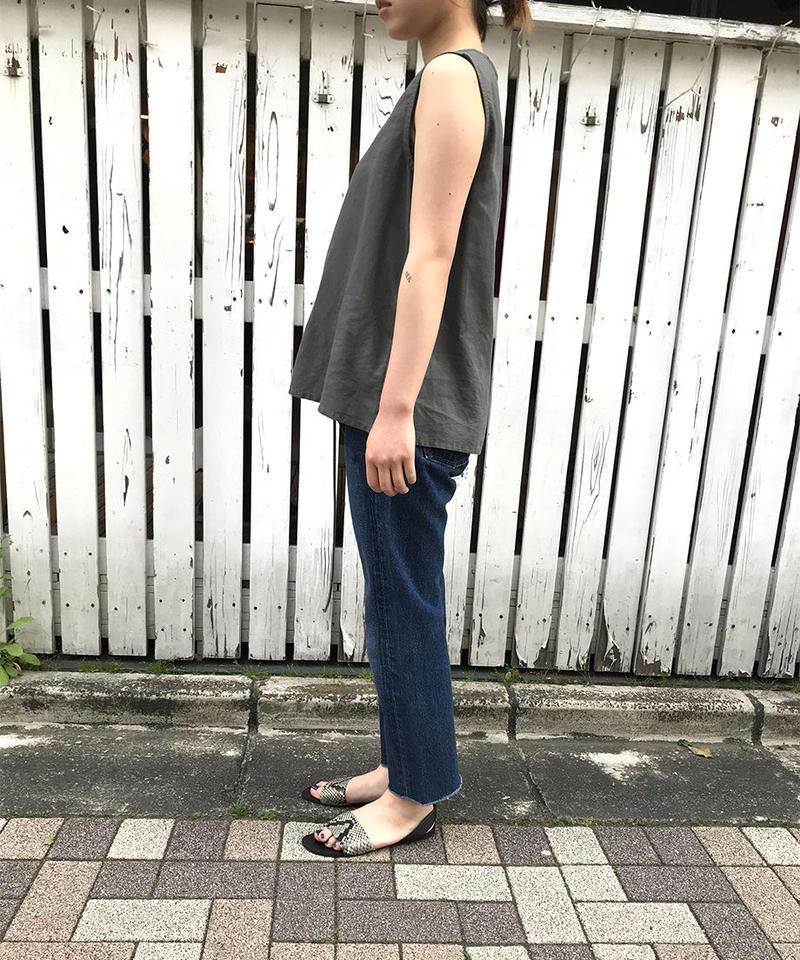"""linen cotton sleeveless """"3color"""" [201937630]"""