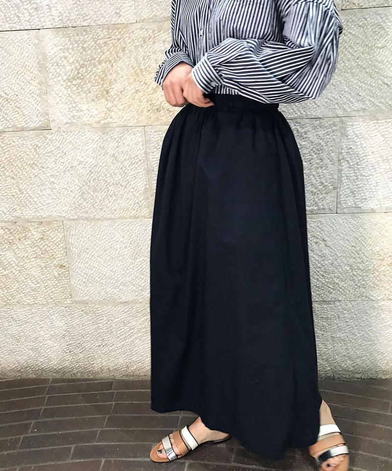 "Linen cotton Gathered skirt ""3color""[211927570]"