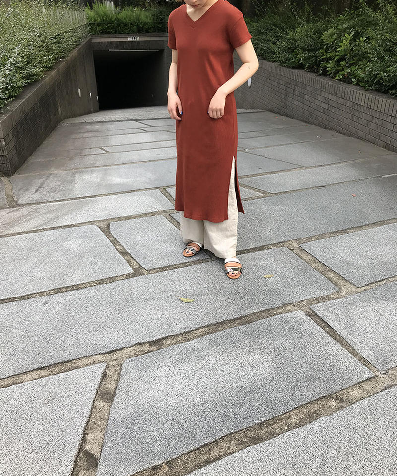 "Rib jersey  2way dress ""3color""[201927592]"
