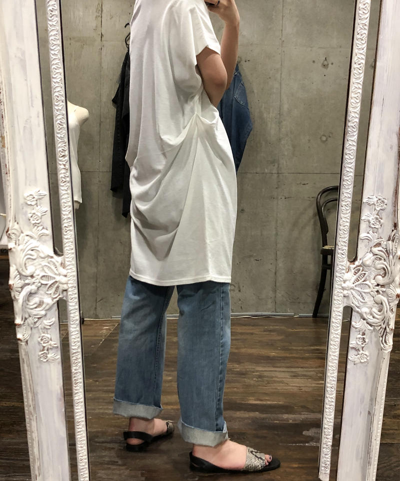 """OE Jersey V-neck french tunic  """"2color"""" [201947603]"""