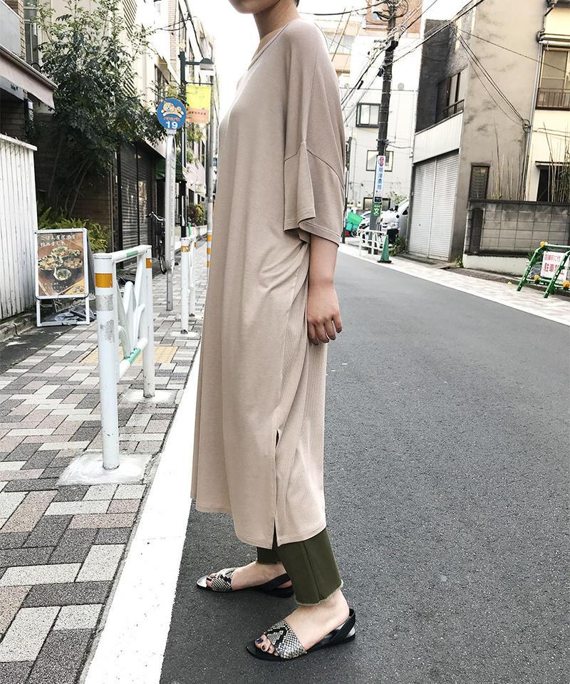 "Rayon Jersey 2way dress ""5color"" [203917655]"