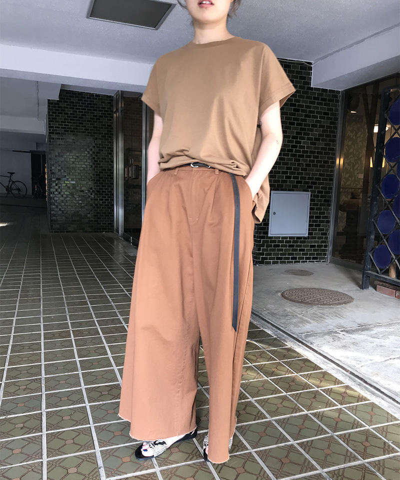 "Cotton twill wide pants ""3color""[201937651]"