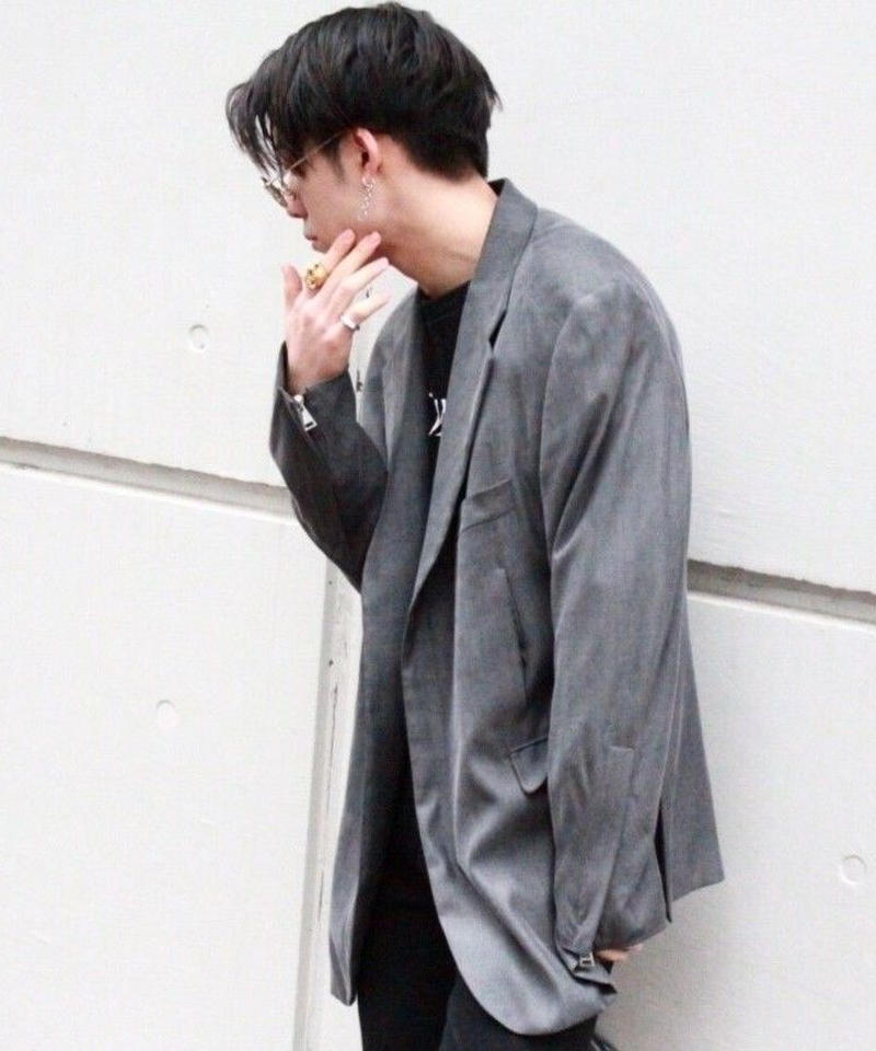 POWER FORM ZIP JACKET【GRY】