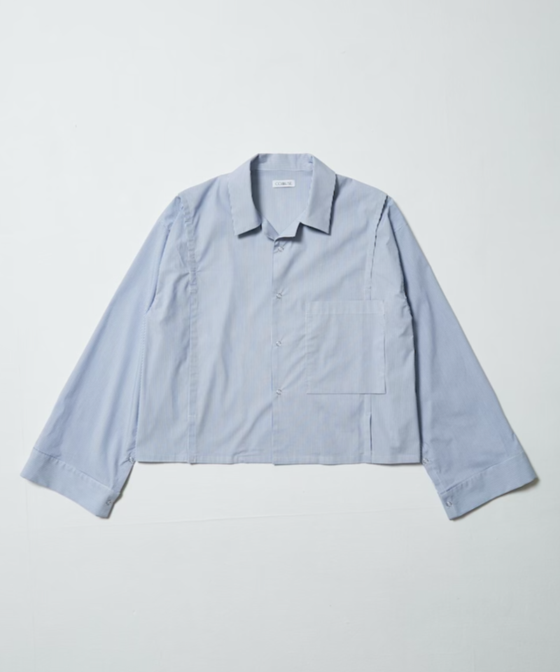 70's  CUSTOM OPEN COLLAR SHIRT  【SIRIPE】