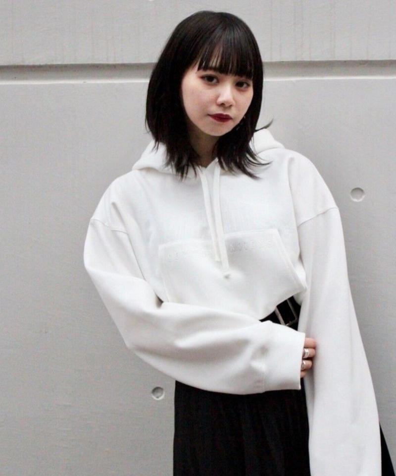 L. SHORT REMAKE DROP PARKA【WHT】