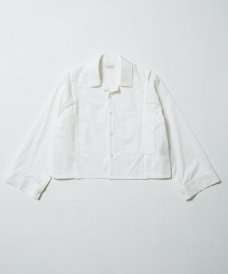 70's  CUSTOM OPEN COLLAR SHIRT  【WHITE】
