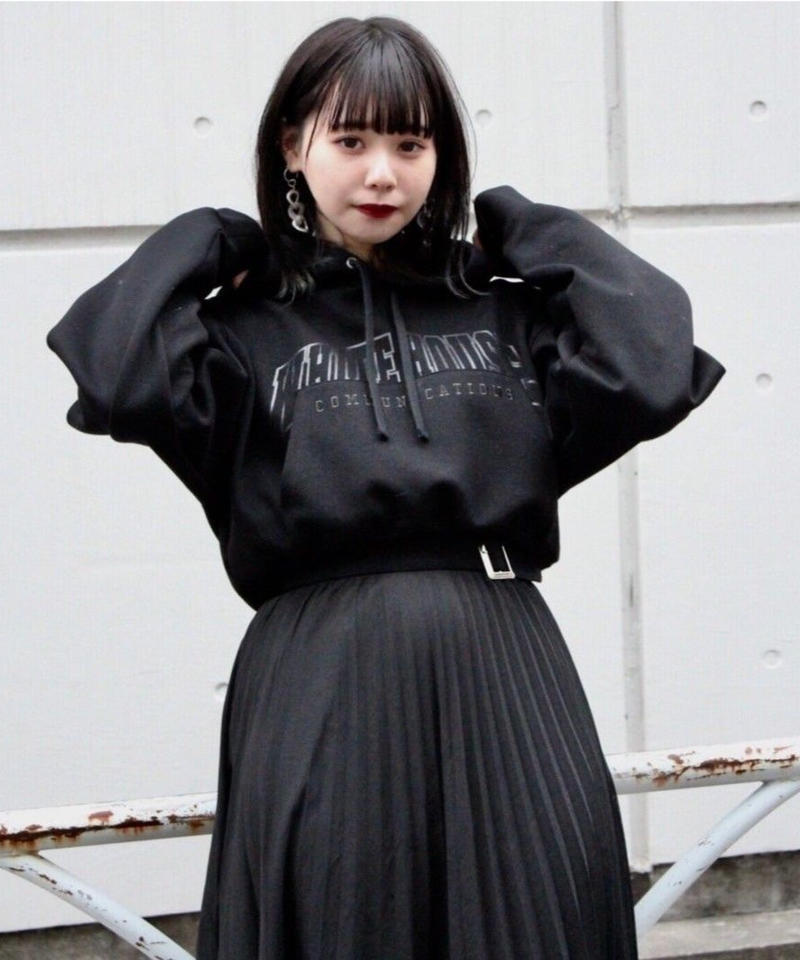 L. SHORT REMAKE DROP PARKA【BLK】