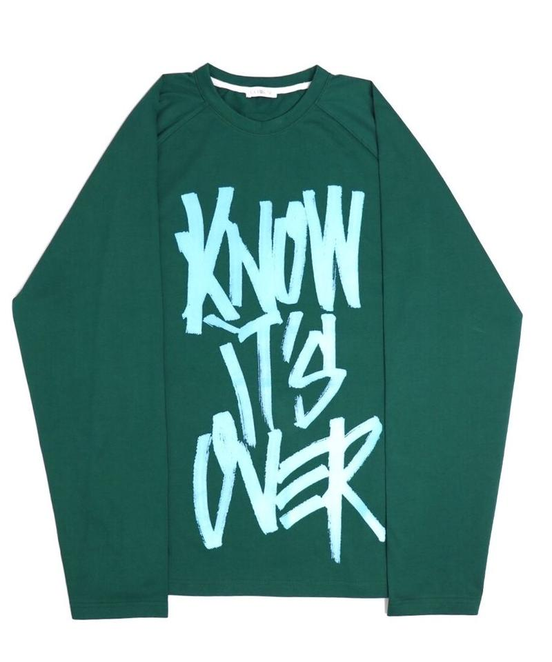 """I KNOW IT'S OVER"" LONG SLEEVE  TEE【GRN】"
