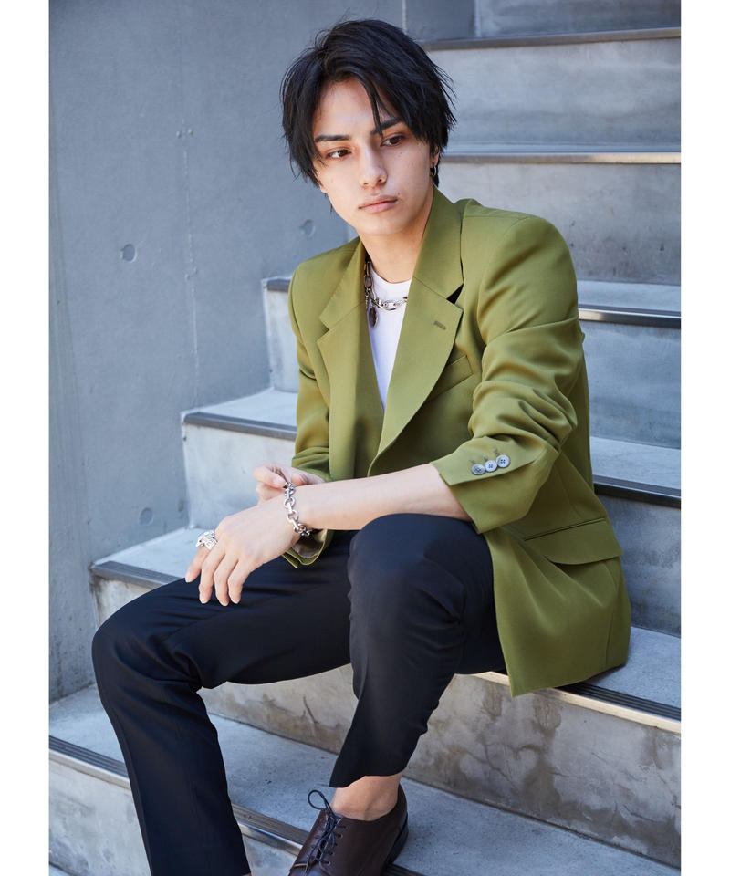 90's BOXY TAILORED JACKET【GRN】