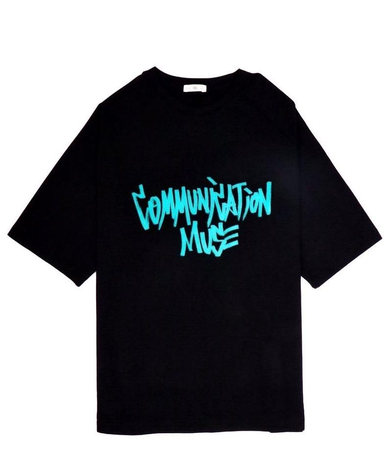 """COMMUNICATION MUSE"" TEE【BLK】"