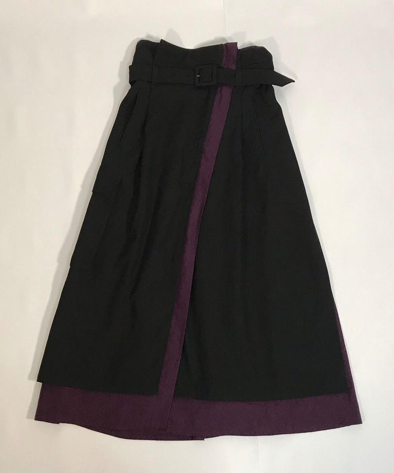 WRAP-AROUND LAYERED SKIRT【PPL】