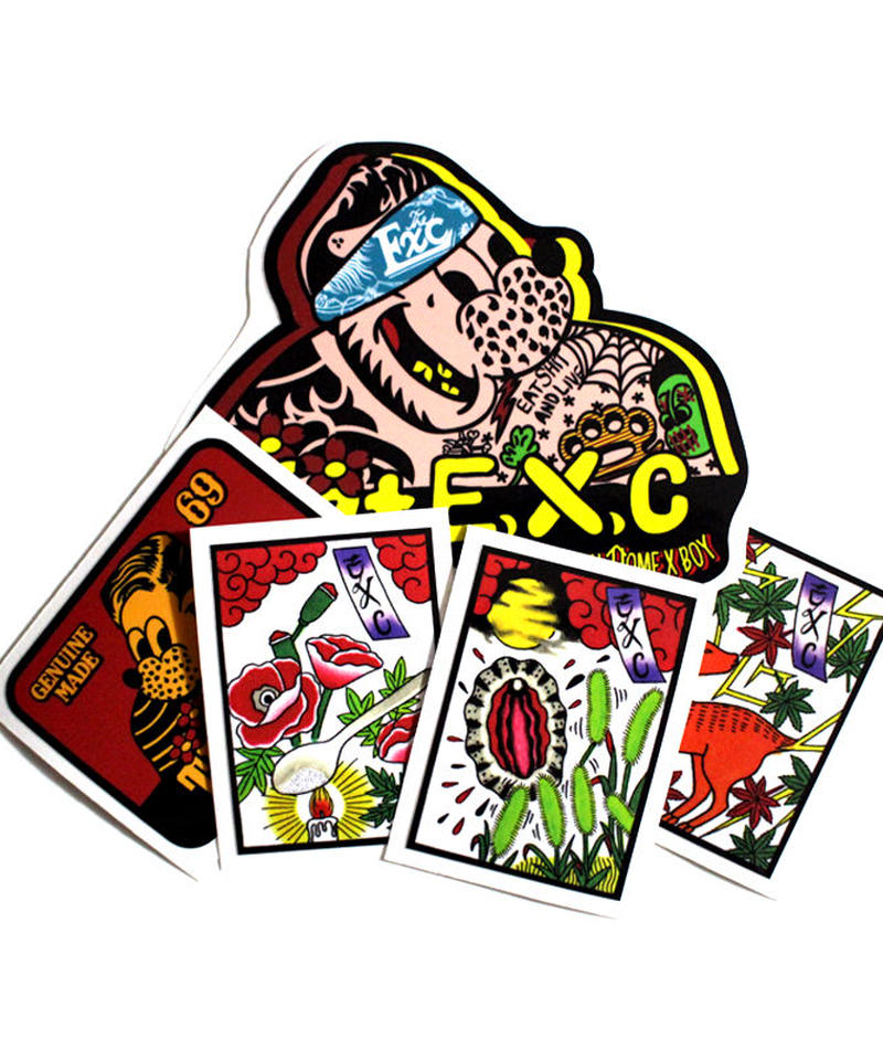 """STICK"" (ステッカー/5pcs) #EXC-GD01"