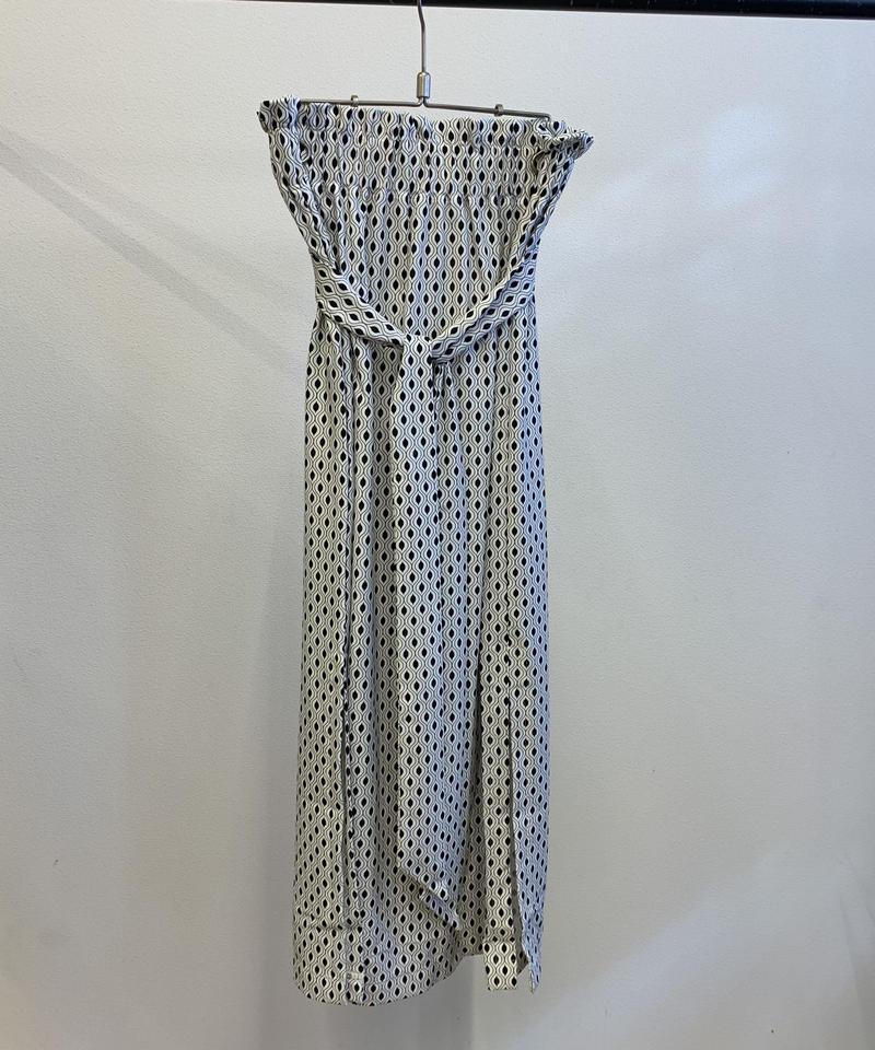 Taara side slit sarong skirt