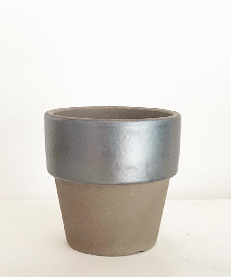 素焼き鉢 メタリックリム鉢