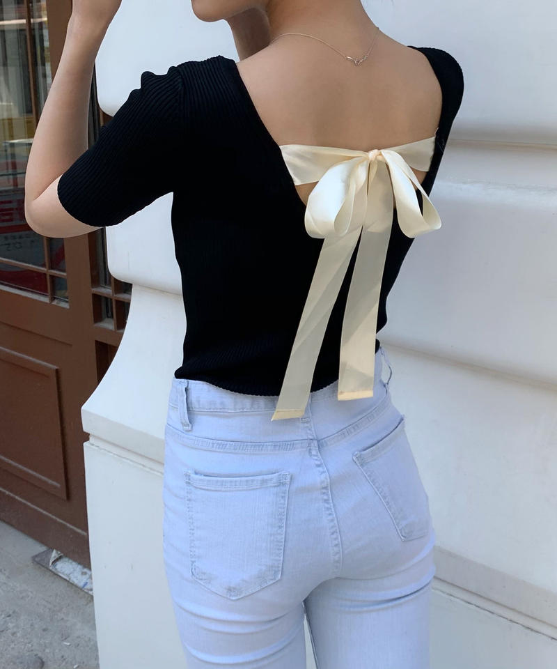 back ribbon tops