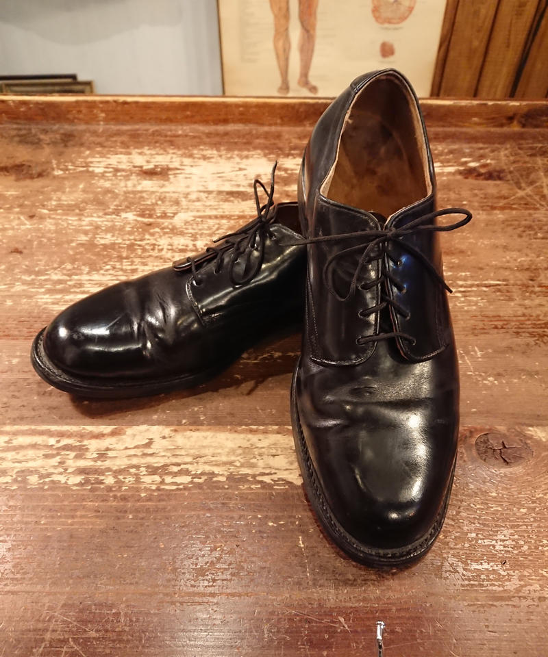 【 1980s U.S.NAVY 】 Service Shoes.  「SIZE  7 1/2  W」