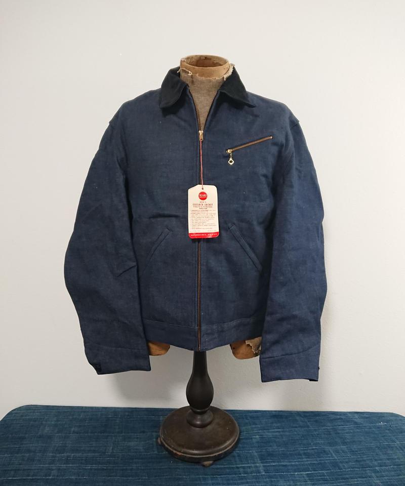 【 1960s~  Sears 】Denim work jacket. (Dead stock)