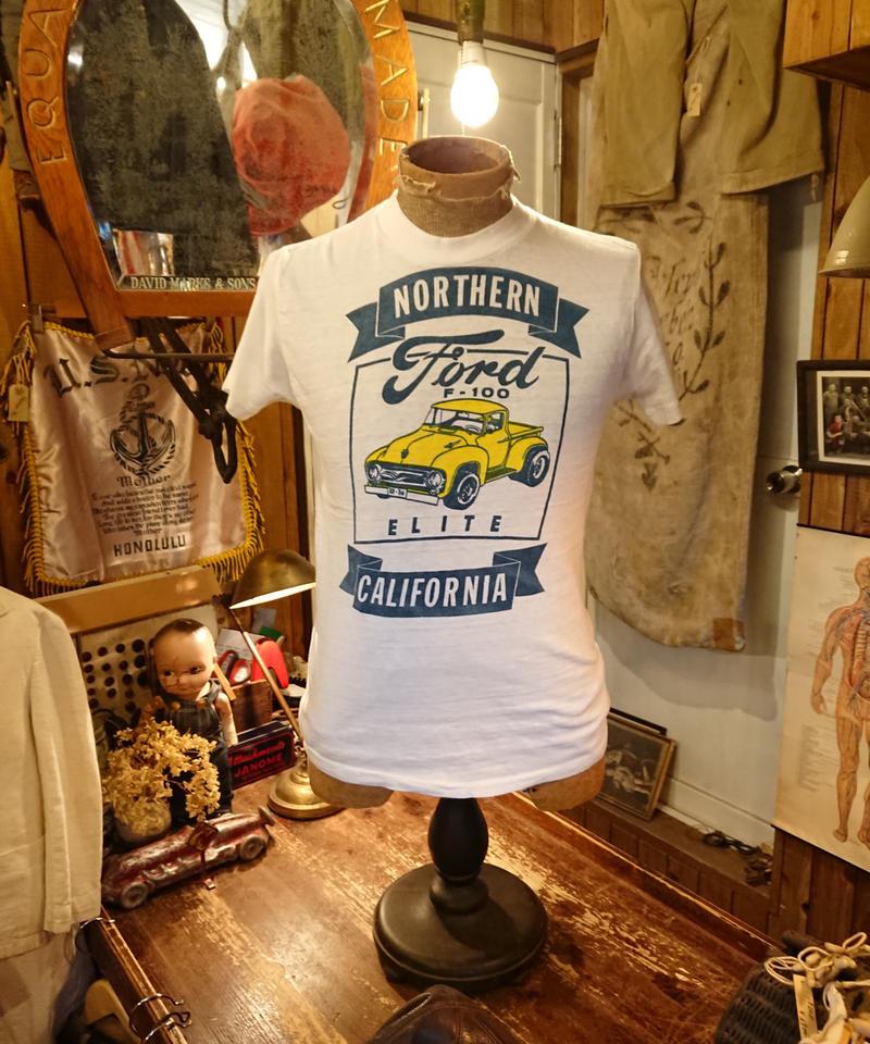 【 1960s~ Helthknit 】Ford F-100  Print T-shirt.