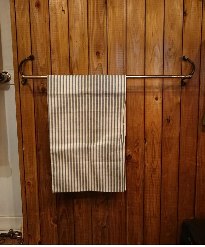Vintage nickel towel rack.