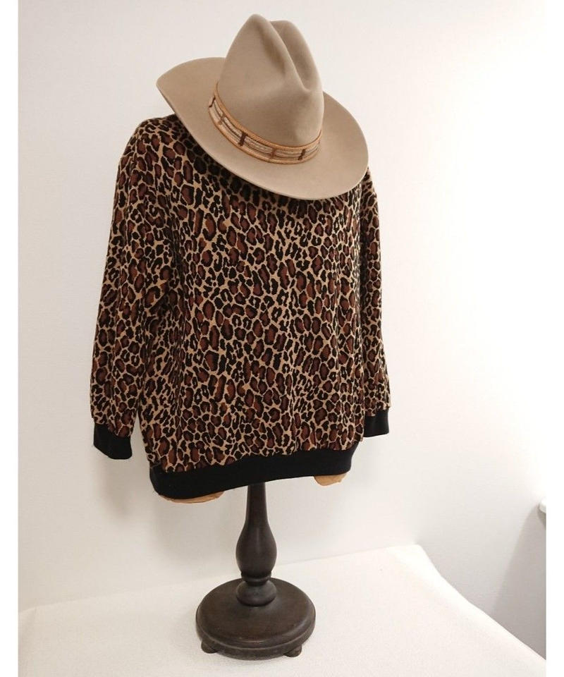 ~90s Leopard Acrylic Pullover shirt