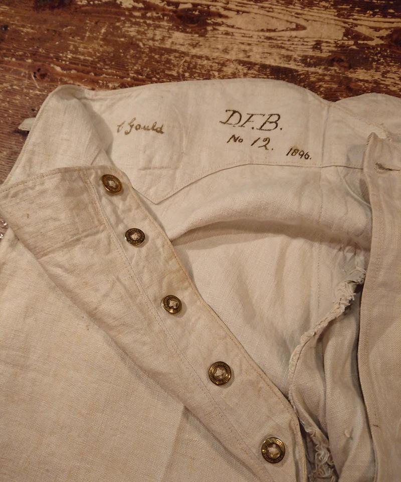 1890s~  White linen fabric pants.