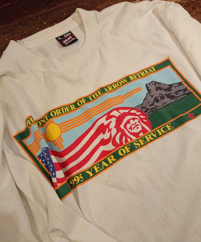 【 1990s  FRUIT OF THE LOOM 】Boy Scout T-Shirt.