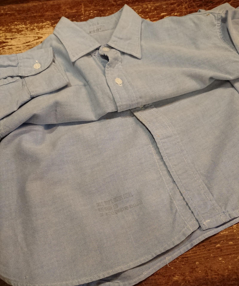 【 ~1960s USAF 】Oxford shirt.