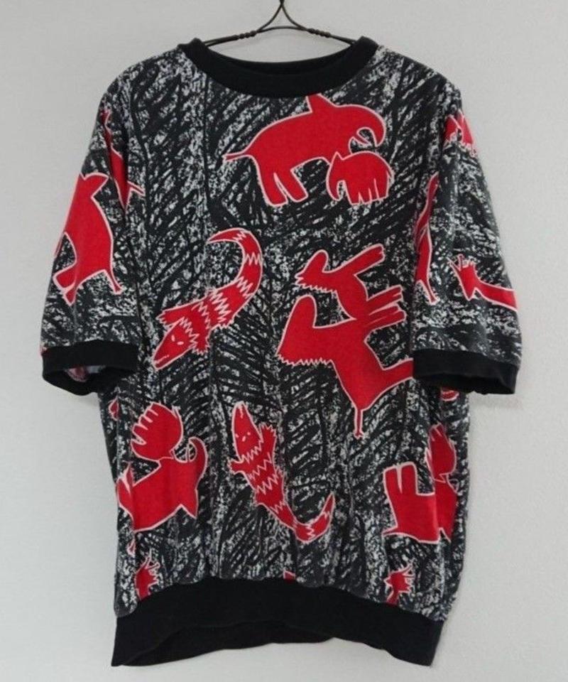 【 1990s~  A.D.SPORT 】Animal pattern short sleeve shirt.