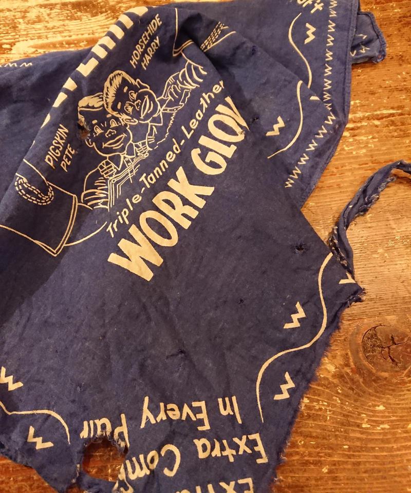【 1950s WOLVERINE WORK GLOVES 】Vintage bandana.