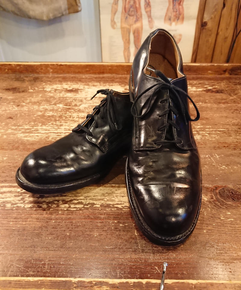 【 1980s U.S.NAVY 】 Service Shoes.  「SIZE  9 R」