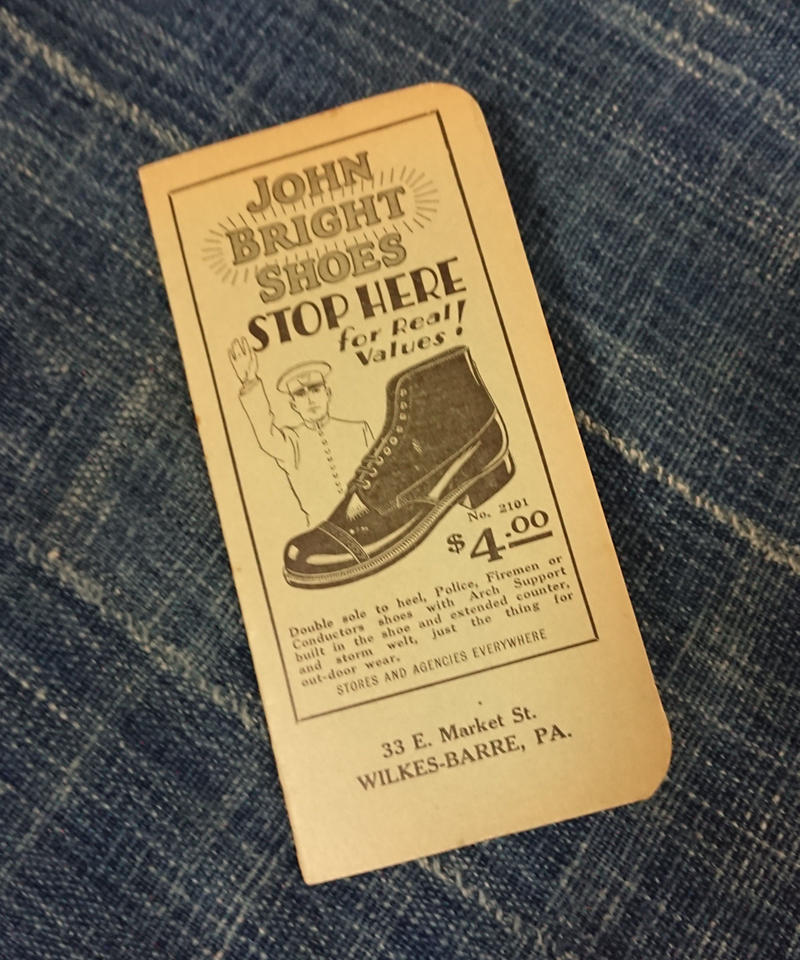【 1920s~ JOHN BRIGHT SHOES 】 Time book.