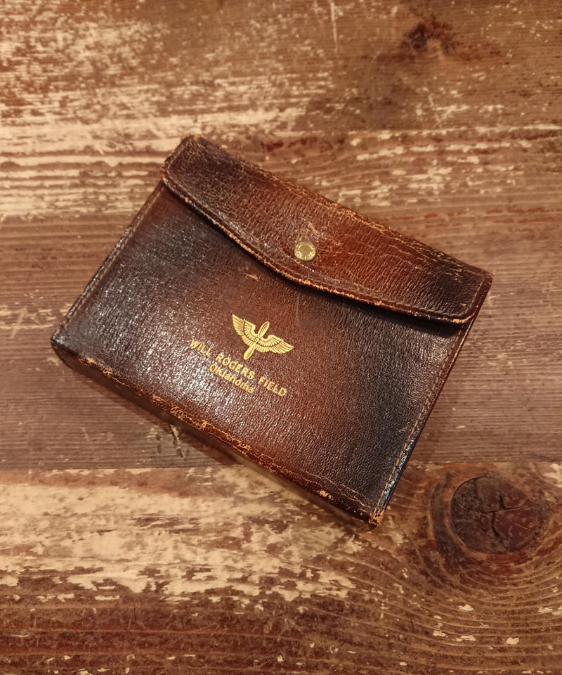 【 1940s  USAF 】Leather notepad case.
