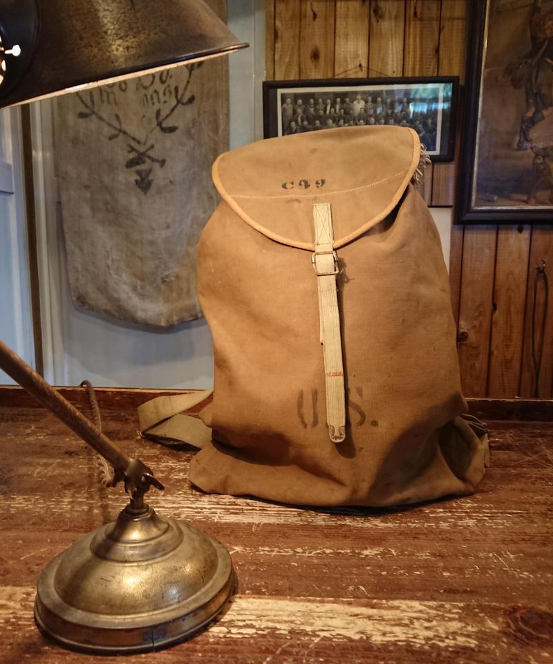 【 1910s WW1 U.S.ARMY 】 Canvas back pack.