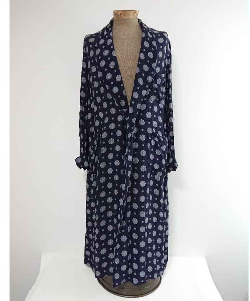 1960s~  Polyester made blue gown.