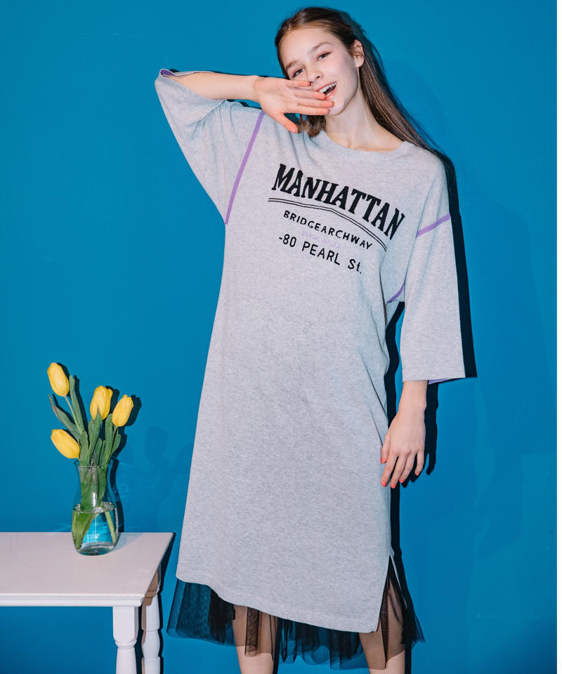【Loana】7AQ5202  マンハッタンINTERSIAニットワンピ