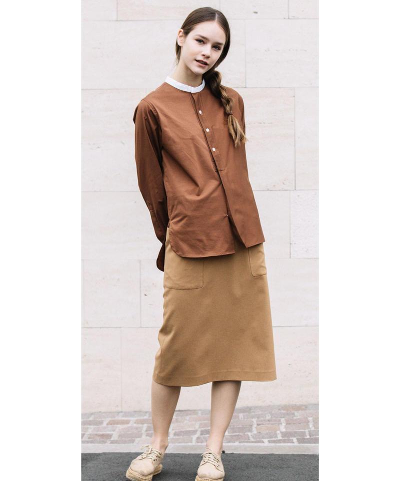 【Loana】7AQ6202  サイドポケットAラインスカート