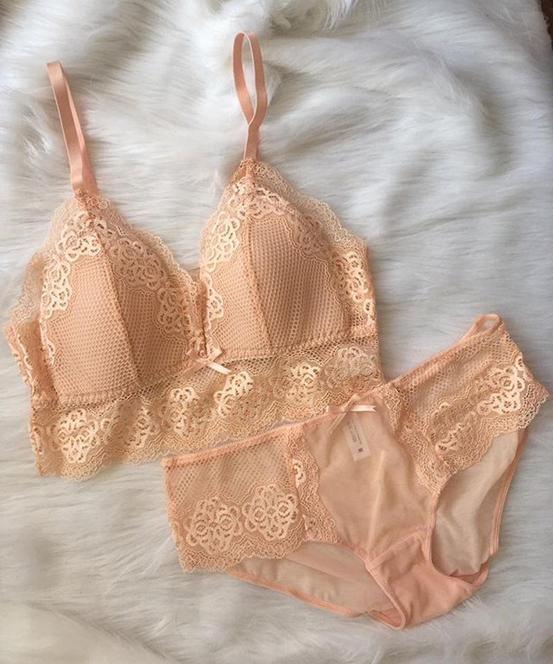パッド付きブラレット pink beige set up