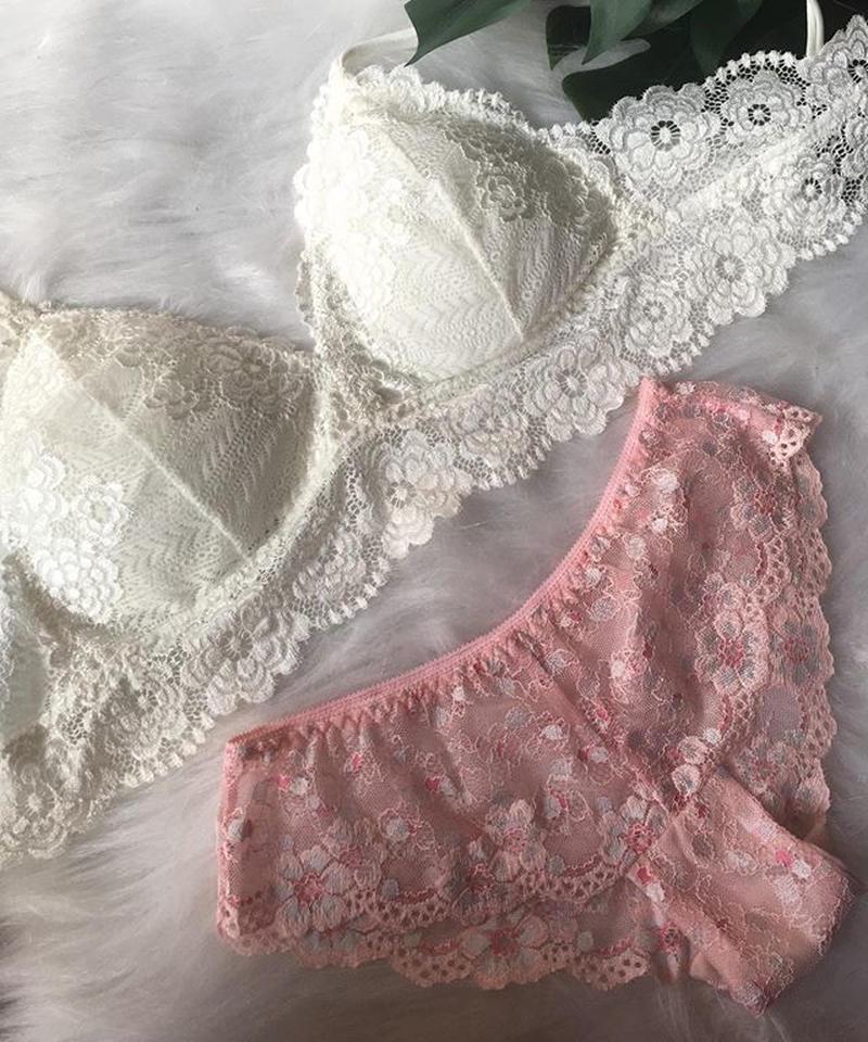 パッド付きwhite× pink flower