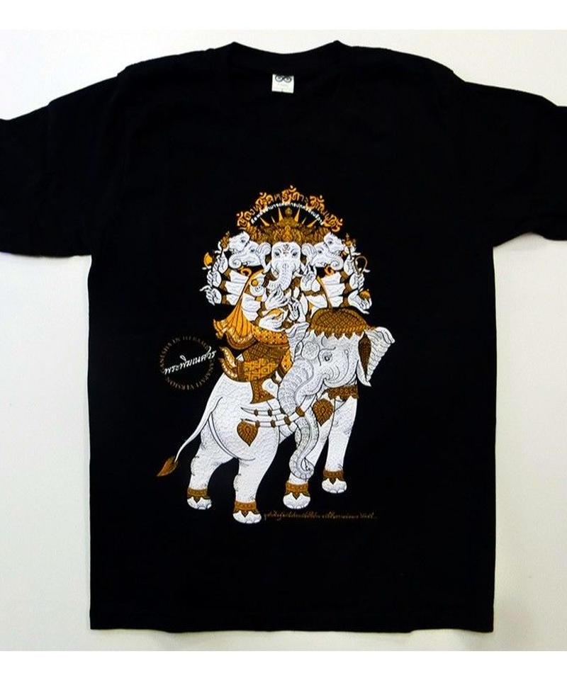 ガネーシャTシャツ ゾウ柄