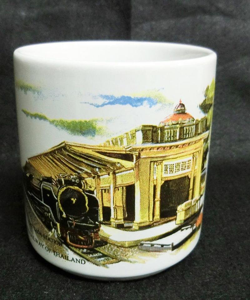 タイ国有鉄道(SRT) チットラダー王室駅マグカップ
