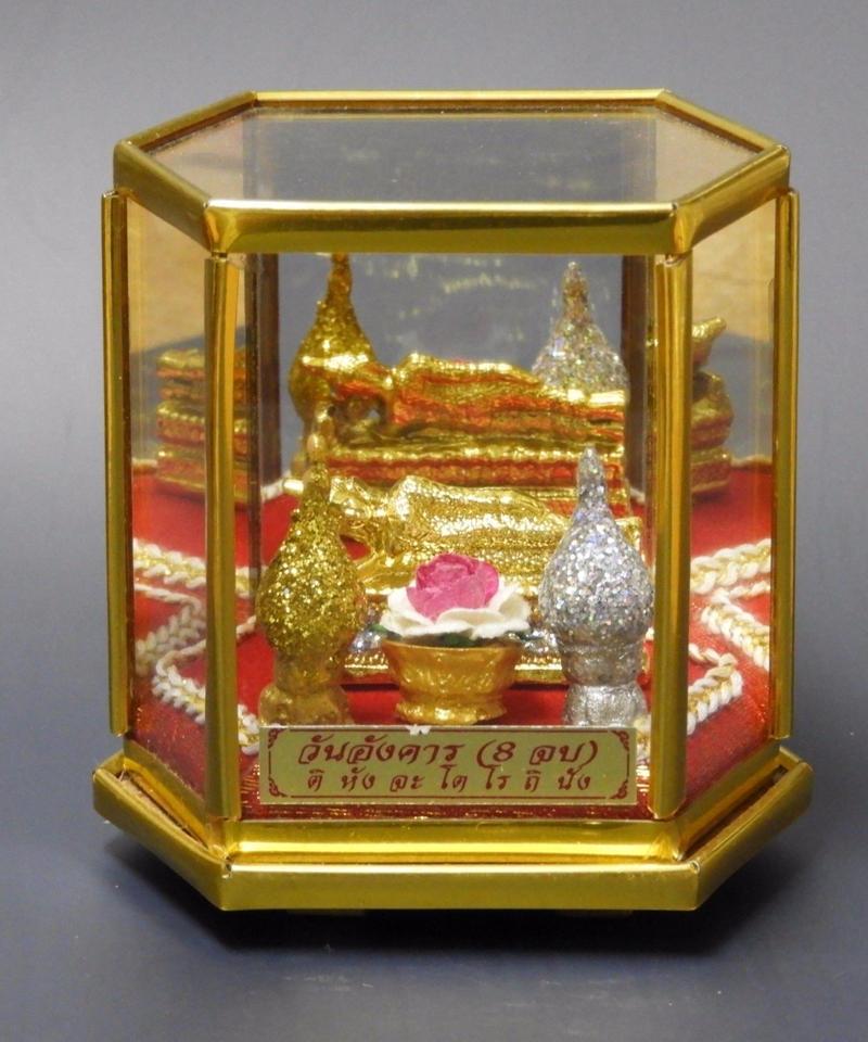 リクライニング仏陀(寝釈迦)置物中アクリルケース入り