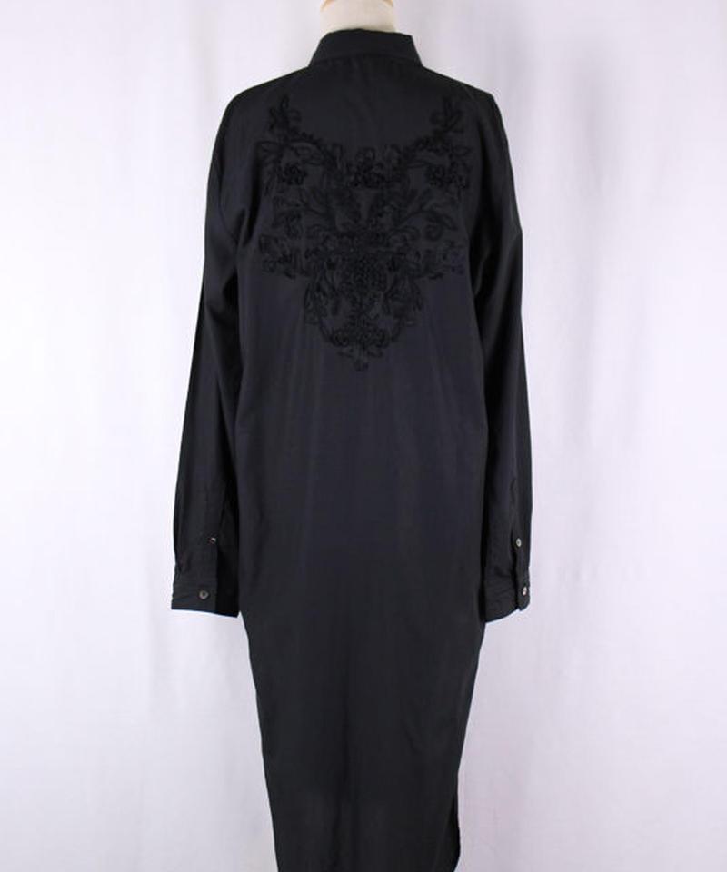 Bennu(ヴェンヌ)  120730406  / Back embroidery regular color long Shirts