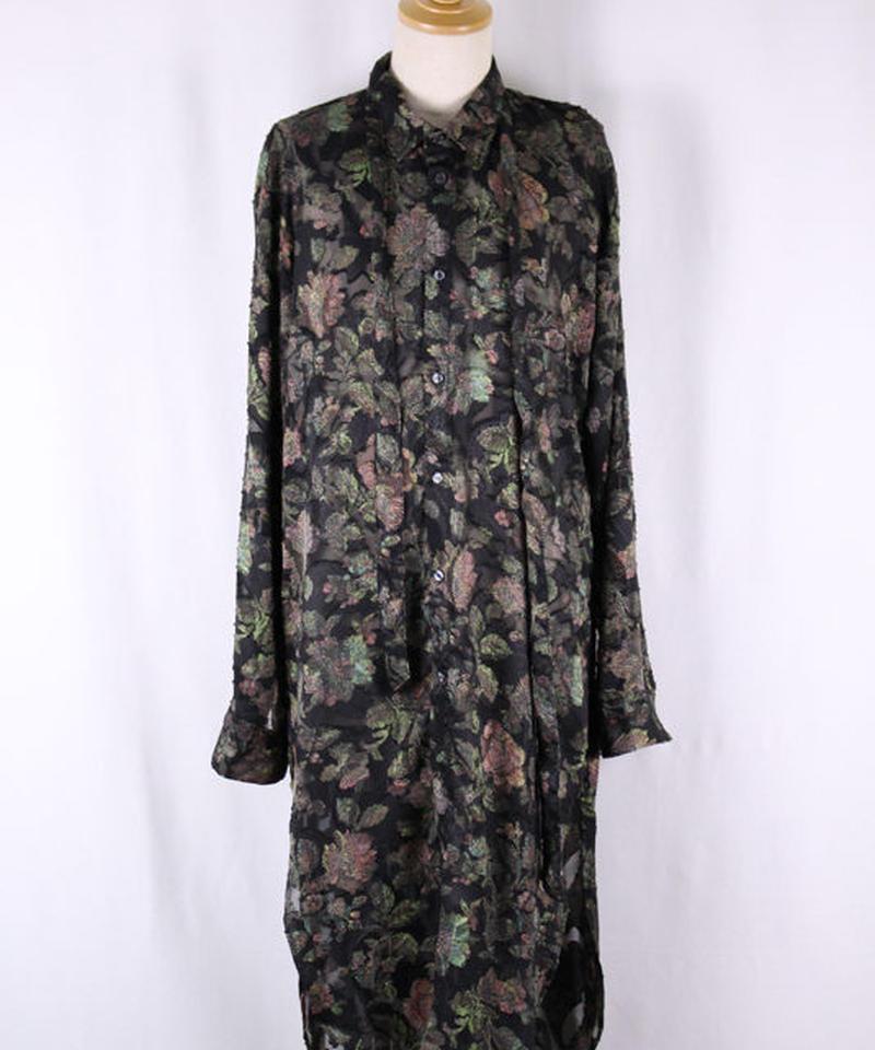 Bennu(ヴェンヌ)  120730402 / Paisley JQ Floral Regular Color Long Shirts