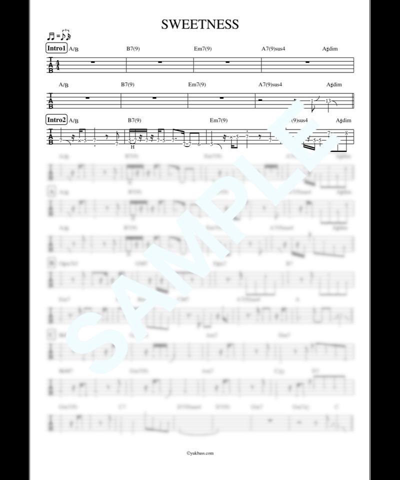 SWEETNESS / MISIA【ベース・タブ譜】