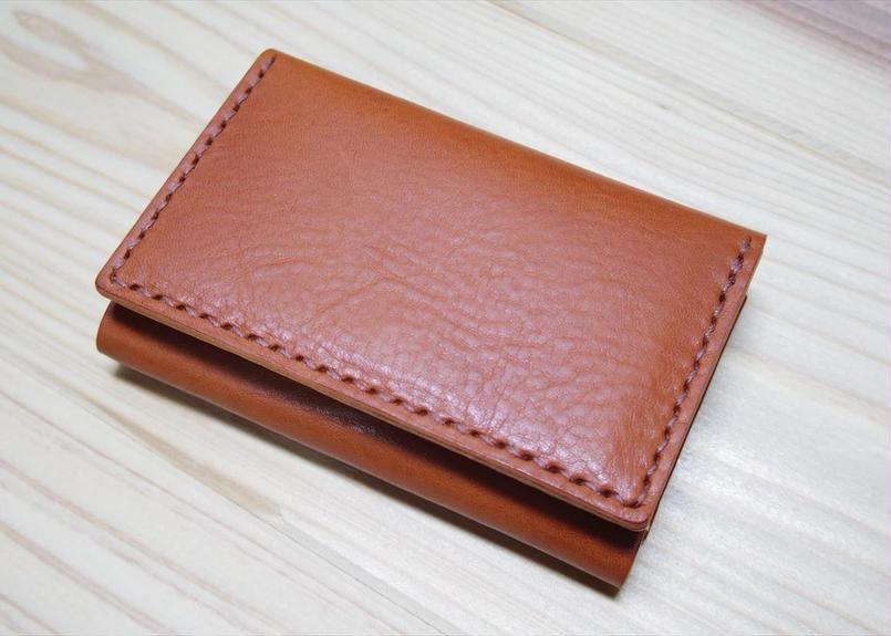 【受注生産】イタリア製オイルドレザーの名刺入れ(カードケース)