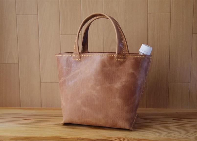 【受注生産】国産オイルドレザーの厚マチランチトートバッグ
